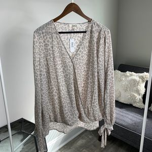 Grey and light pink blouse